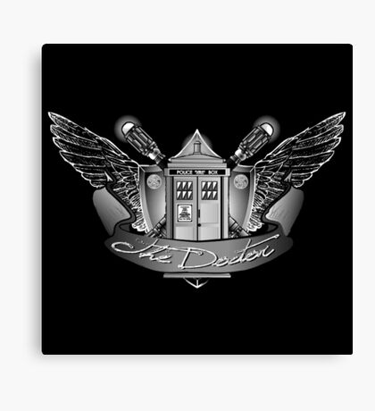 Doctor Crest Canvas Print