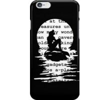 Part of Your World (black) iPhone Case/Skin