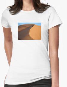 Morocco, Climbing a Sahara Desert Dune Womens Fitted T-Shirt