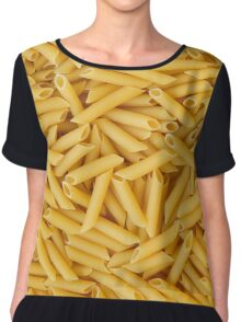 Raw penne pasta Chiffon Top