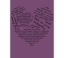 Quotes of the Heart - Cecilos (Black) Photographic Print