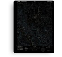 USGS TOPO Map Arkansas AR Green Forest 20110727 TM Inverted Canvas Print