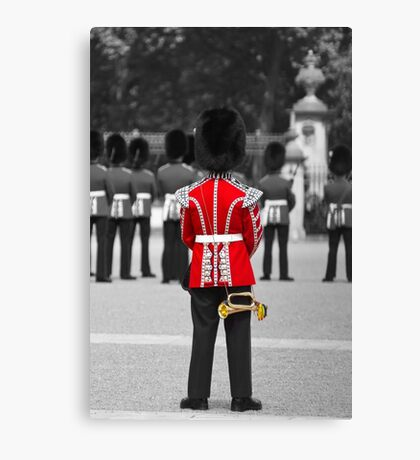 Red Jacket and Bugle Canvas Print