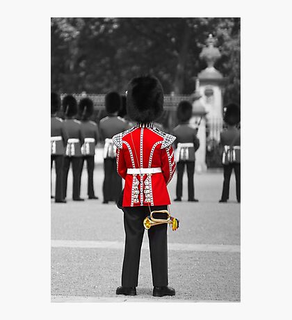 Red Jacket and Bugle Photographic Print