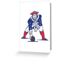 Old New England Patriots Logo Greeting Card