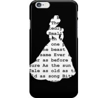 Tale as Old as Time (black) iPhone Case/Skin