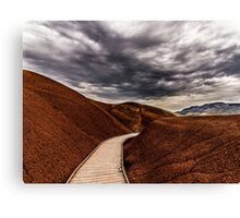 Walking the Red Hill Canvas Print