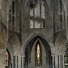 Nave and altar Pershore Abbey Pershore England 198405140052  by Fred Mitchell