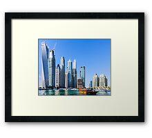 Dubai Marina Walk Framed Print
