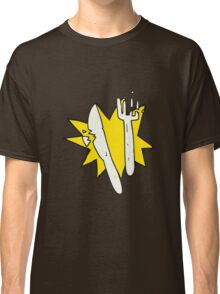cartoon cracked plastic cutlery Classic T-Shirt