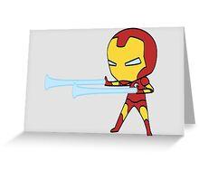 Teeny Tiny Iron Man Greeting Card