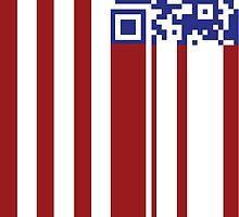 BARCODE AMERICAN FLAG 2 by gaarte