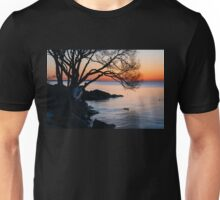 Just Before Sunrise - Bright Cold and Colorful on the Lakeshore Unisex T-Shirt