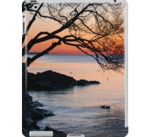 Just Before Sunrise - Bright Cold and Colorful on the Lakeshore iPad Case/Skin