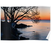 Just Before Sunrise - Bright Cold and Colorful on the Lakeshore Poster