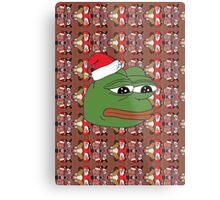 Christmas Pepe Metal Print