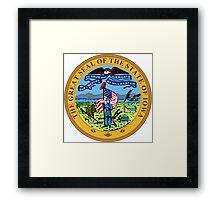 Iowa seal Framed Print