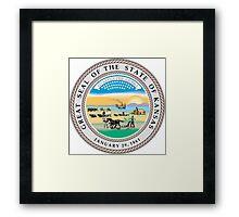 Kansas Seal Framed Print