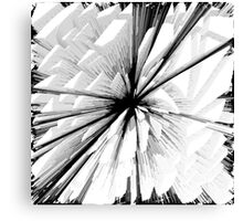 Abstract black pattern Canvas Print