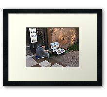 Rome Street Art Framed Print