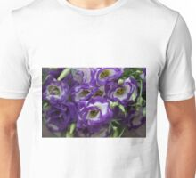 Eustoma PURPLE WHITE  Unisex T-Shirt