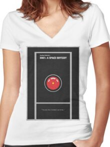 2001 A Space Odyssey Women's Fitted V-Neck T-Shirt