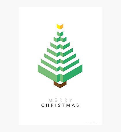 Minimalistic Christmas Tree (Card) Photographic Print