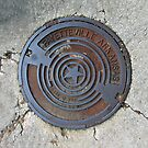 Star Manhole Cover Edit 02 by Keith Miller