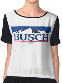 busch, buschlight, beer, drink, thin, mountain. Chiffon Top