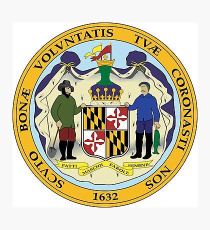 Maryland seal Photographic Print