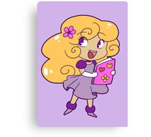 Curly Blonde Girl Canvas Print