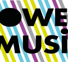 Power of music Sticker