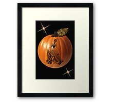 BEAUTIFUL PUMPKIN VISIONS BLANK CARD AND OR PICTURE VERSION THREE  Framed Print