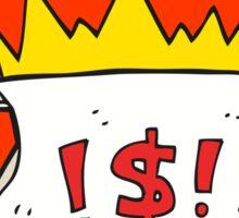 cartoon abusive letter Sticker
