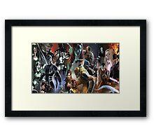 Marvel Super heroes/villains Framed Print