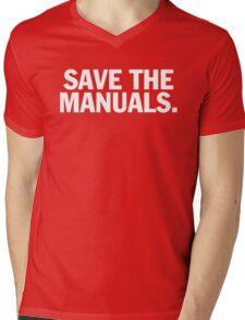 Save the manuals T-shirt. Limited edition design! Mens V-Neck T-Shirt