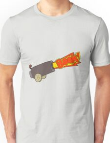 cartoon cannon shooting Unisex T-Shirt