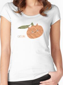 Catsuma Women's Fitted Scoop T-Shirt