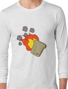 cartoon burnt toast Long Sleeve T-Shirt
