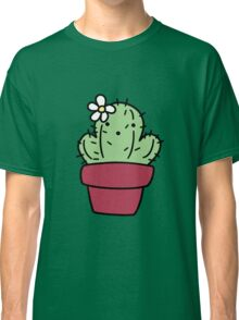 Potted Flower cactus Classic T-Shirt