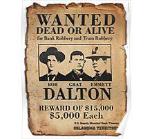 Dalton Gang Wanted Poster Poster