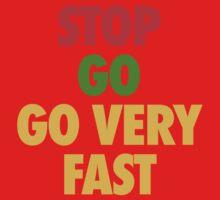 STOP GO GO VERY FAST One Piece - Short Sleeve