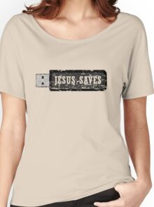 JESUS SAVES - FADED Women's Relaxed Fit T-Shirt