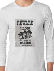 Vintage Dalton Gang Wanted Poster Long Sleeve T-Shirt