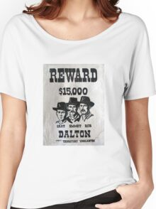 Vintage Dalton Gang Wanted Poster Women's Relaxed Fit T-Shirt