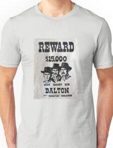 Vintage Dalton Gang Wanted Poster Unisex T-Shirt