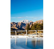 Iced lake in the alps Photographic Print
