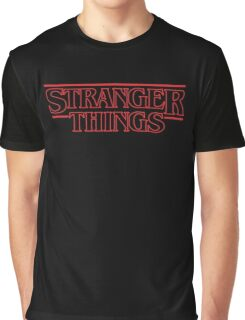 Stranger Things Classic Title :  RED OUTLINE VARIANT Graphic T-Shirt
