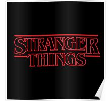 Stranger Things Classic Title :  RED OUTLINE VARIANT Poster