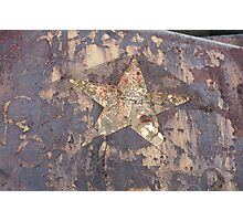 Rusting star logo. Photographic Print